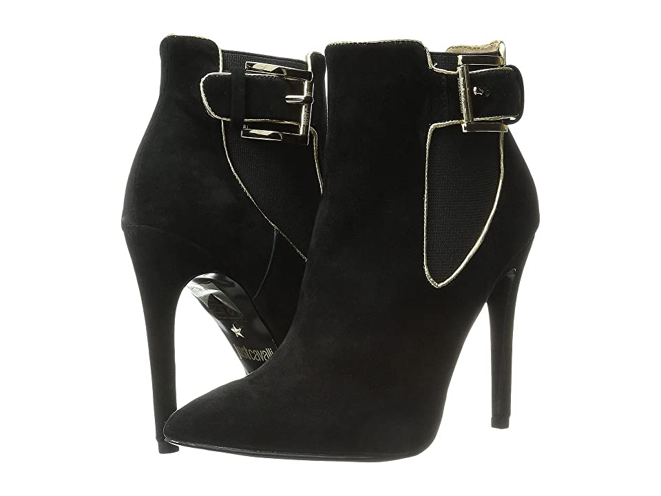Just Cavalli High Heel Ankle Boot w/ Piping (Black) Women