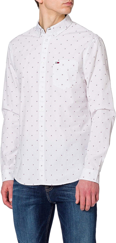 Tommy Jeans TJM Dobby Shirt Camisa para Hombre