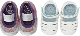 Ro + Me Glitter MJ/Taylor Sandal 2-Pack (Infant/Toddler)