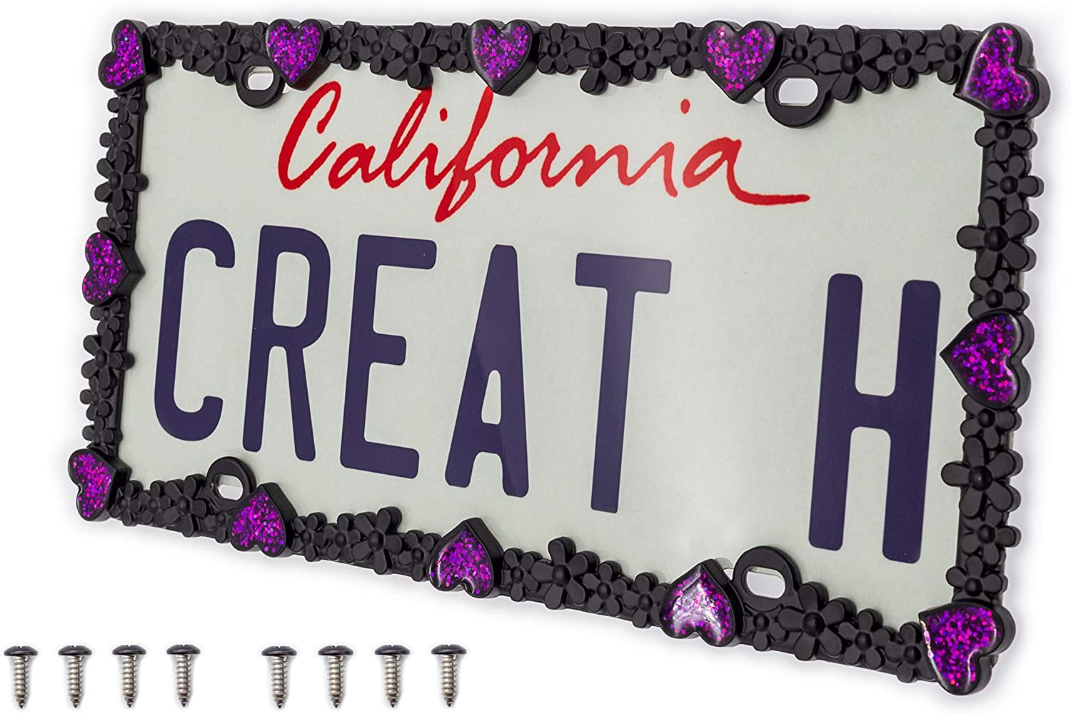 Creathome 3D Shining Daisy Heart License Spring new work one Regular discount after another Z Pure Plate from Frame