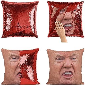Donald trump Photo Sequin Pillow Case Personalized Sequin Pillow Personalized Pillow Gift For Her Nursery Decor Pillow Case Birthday Gift