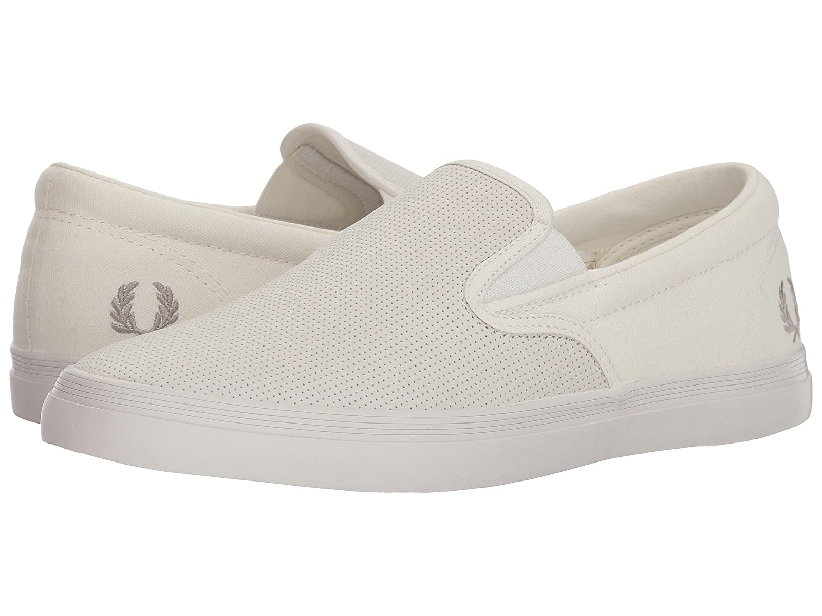 Fred Perry Perry Fred Underspin Slip-On Checkerboard Leather/Canvas 5a8ba1