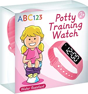 Sponsored Ad - ABC123 Potty Training Watch - Baby Reminder Water Resistant Timer for Toilet Training Kids & Toddler (Pink)