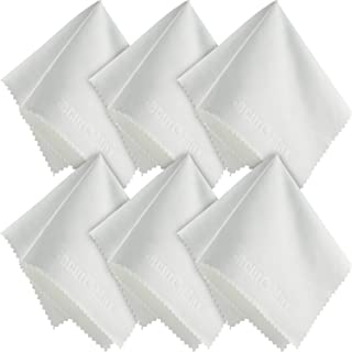 SecurOMax White Microfiber Cleaning Cloth 8x8 Inch, 6 Pack