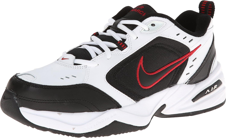Nike Air Monarch IV White Black Red Men's UK 10 US 11 Wide 4E