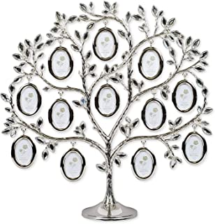 Elegant Family Tree 12 x 12 Inch Metal Table Top Photo Frame Decoration