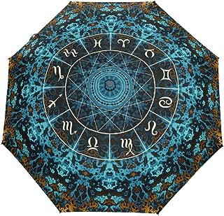 WIHVE India Mandala Constellation Umbrella Auto Open Close Windproof Compact