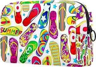 Makeup Bag Organizer Small CosmeticBagsforWomen Travel Toiletry Bag Makeup Case Purse Handbag Colorful Flip Flops