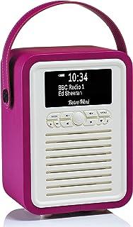 VQ Retro Mini DAB+ Digital Radio with FM, Bluetooth & Alarm Clock, Electric Pink, (VQ-Mini-EP/AUS)