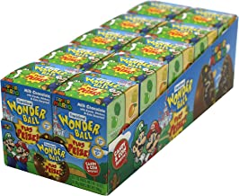 Frankford Candy Company Wonder Ball with Toy Mario, Milk Chocolate, 1 Ounce (Pack of 10)