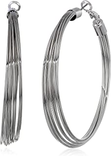 GUESS Women's Hoop Earrings, Silver, One Size