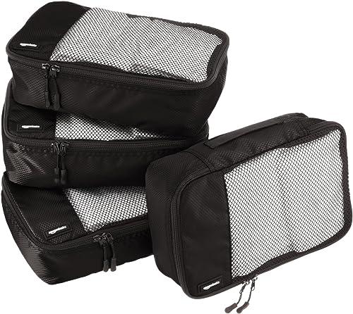 AmazonBasics Small Packing Cubes - 4 Piece Set, Black