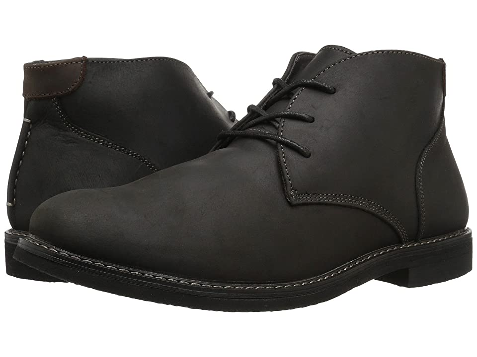 Nunn Bush Lancaster Plain Toe Chukka Boot (Black Leather) Men