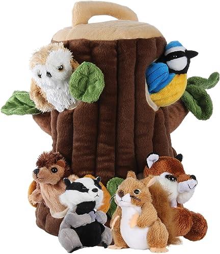 The Puppet Company Maison d'arbre pour Marionnettes Cachées Marionnette à Doigts PC004505