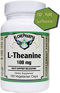 AP 100% Pure SunTheanine® L-Theanine Officially Manufactured in Japan by Taiyo International,(Free of Yeast, Wheat, Gluten...