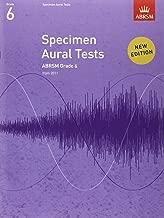 Specimen Aural Tests, Grade 6: new edition from 2011 (Specimen Aural Tests (ABRSM))