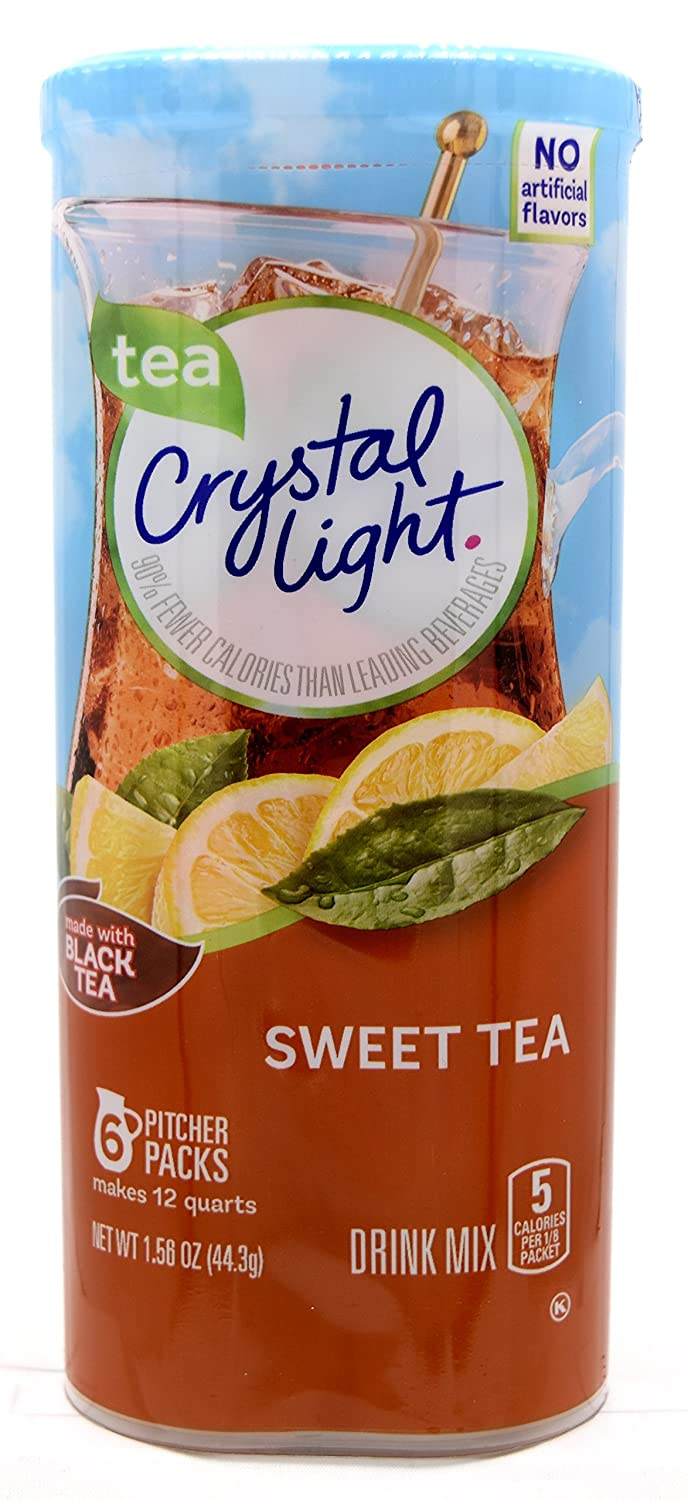 Crystal Light Sweet Tea 12-Quart Canister 3 Pack Max 82% OFF Of 1.56-Ounce Max 89% OFF