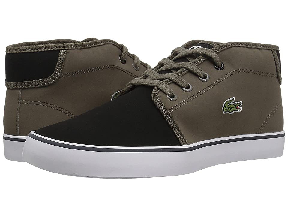 Lacoste Kids Ampthill 417 1 (Little Kid/Big Kid) (Black/Khaki) Kid