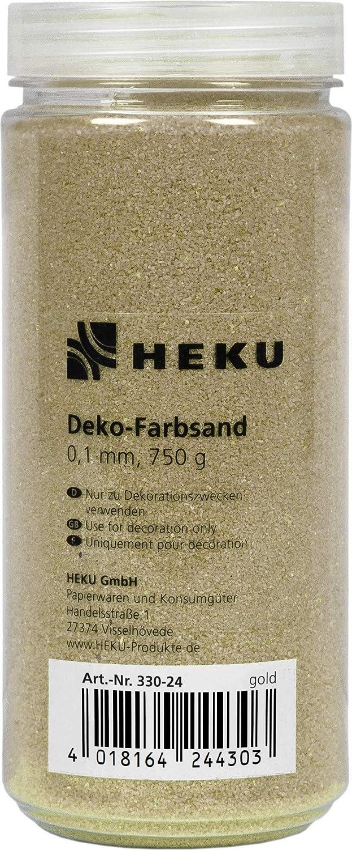 750 Gramm 750g HEKU 30330-02: Dekosand//Farbsand Creme in wiederverschlie/ßbarer Dose