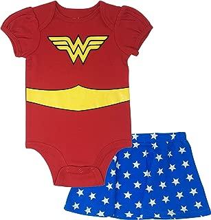 Wonder Woman Infant Baby Girls' Costume Bodysuit & Skirt Outfit Clothing Set