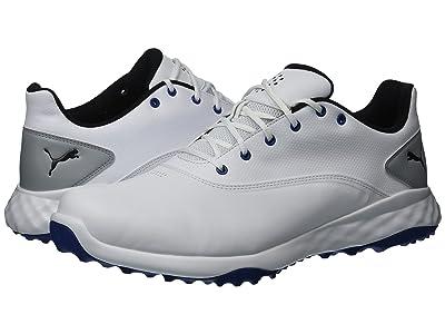 PUMA Golf Grip Fusion (Puma White/Puma Black/Blue) Men
