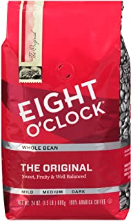 Eight O'Clock Whole Bean Coffee, The Original, 24 Ounce