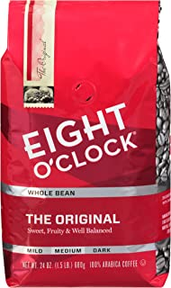 Eight O'Clock Whole Bean Coffee, The Original, 24 Ounce (Pack of 1)