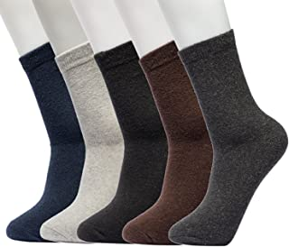 Mens 5 Pairs Warm Knit Soft Super Thick Wool Winter Comfortable Dress Crew Socks