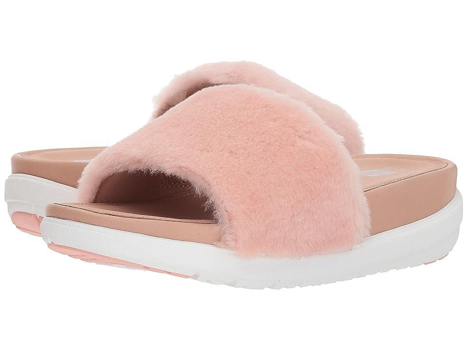 FitFlop Loosh Luxetm Slide Sandals (Dusky Pink Shearling) Women