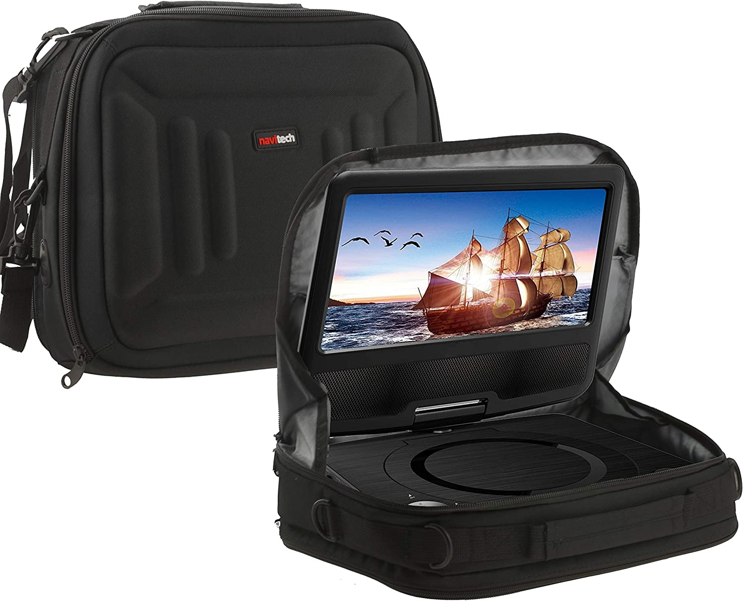 Navitech Branded goods Portable DVD Player Headrest Carry Mount Al sold out. Case Car Compa