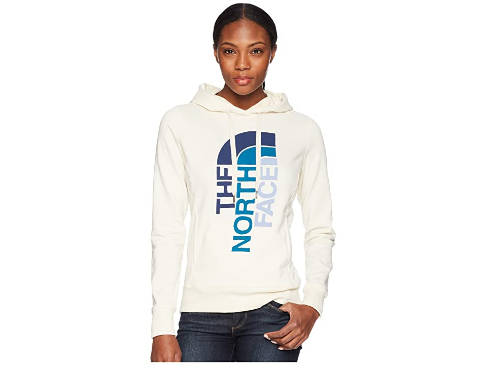 The North Face Trivert Pullover Hoodie (Vintage White Heather/Blue Coral Multi) Women