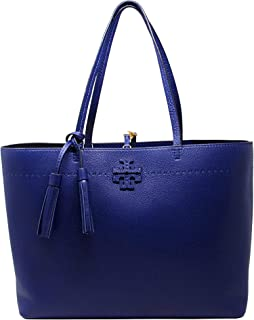 Tory Burch Women's McGraw Leather Top-Handle Bag Tote