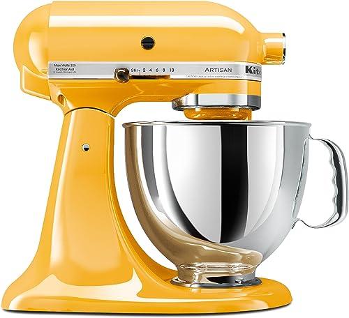 high quality KitchenAid KSM150PSBF Artisan online 5-Quart discount Stand Mixer, Buttercup sale