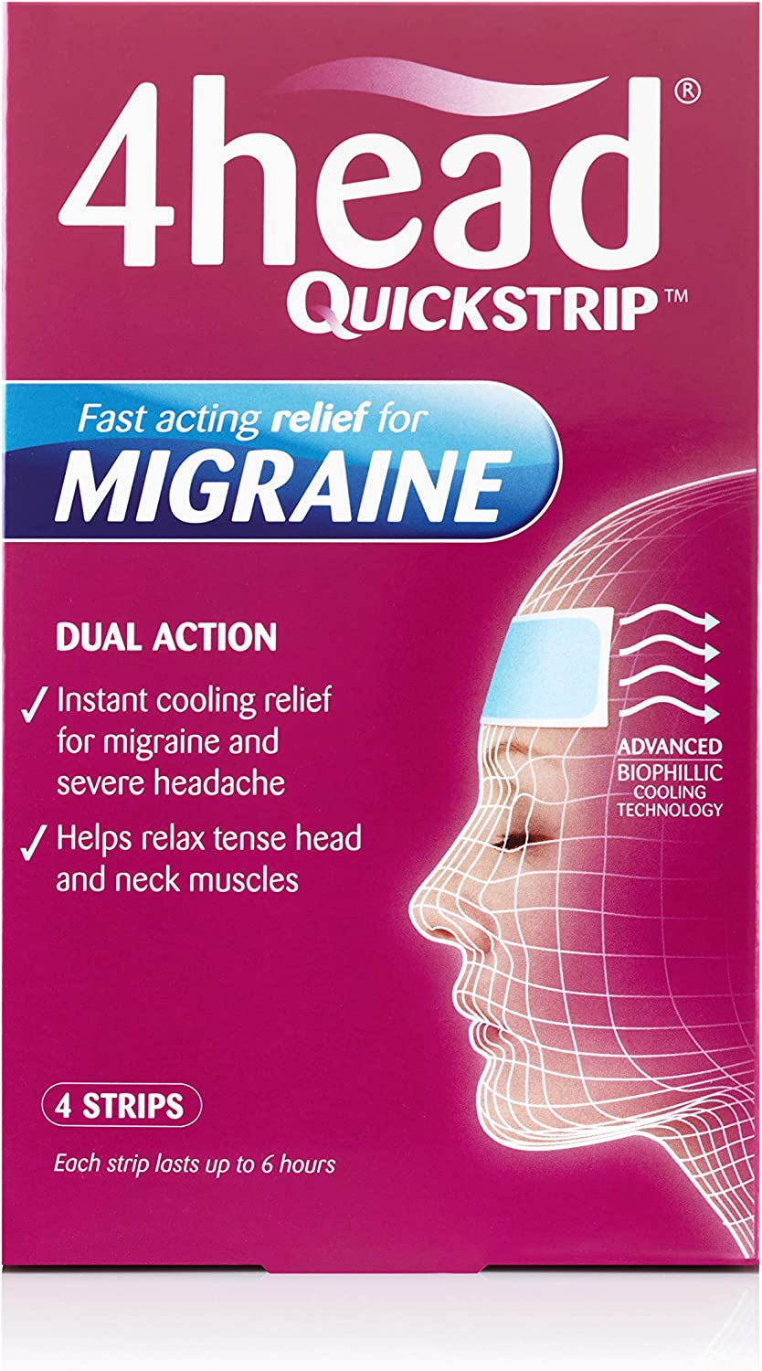 Miami Mall 4Head Quickstrip Headache and Migraine Relief of Nippon regular agency - 4 Pack Strips