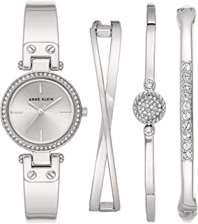 Women's Swarovski Crystal Accented Watch and Bangle Set, AK/3368