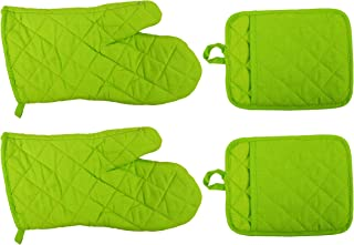 Regent 2 Pot Holders and 2 Oven Mitts (Lime Green)