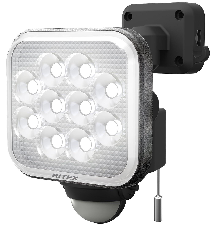 ムサシ RITEX フリーアーム式LEDセンサーライト(12W×1灯) 「コンセント式」 防雨型 LED-AC1012