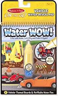 Melissa & Doug On the Go Water Wow! Vehicles Reusable Water-Reveal Activity Pad, Chunky-Size Water Pen