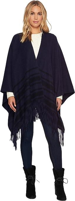 UGG - Blanket Stitch Stripe Poncho with Trim