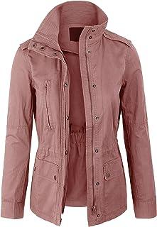 Womens Military Anorak Safari Jacket with Pockets