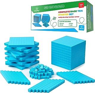 Simply Magic 131 PCS Base Ten Blocks for Math - Place Value Blocks, Base 10 Math Manipulatives K-3, Math Counters, Number ...