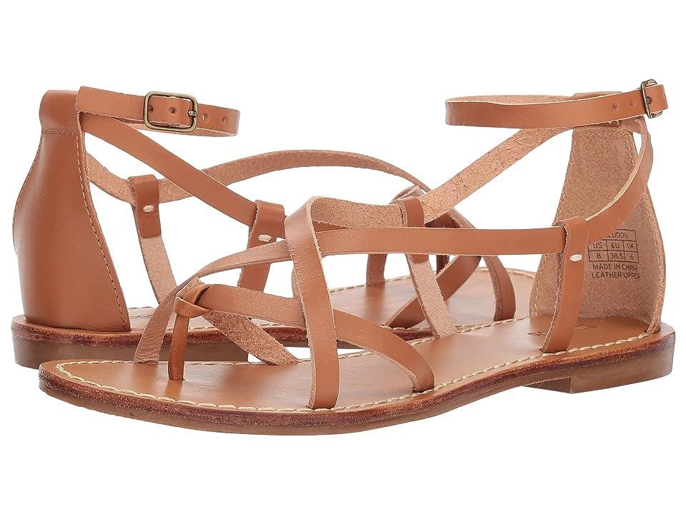 Soludos Amalfi Leather Sandal (Nude) Women