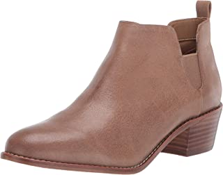 Aerosoles Women's Delancey Ankle Boot, Brown Leather, 9 M US