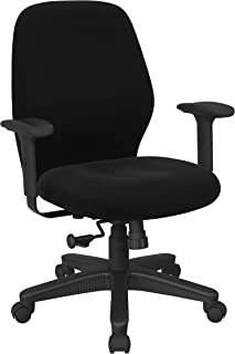 Office Star Ergonomic Mid Back Office Desk Chair with 2-to-1 Synchro Tilt Control and Adjustable Soft Padded Arms, Diamond...