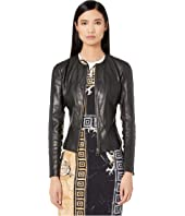 Versace Collection - Paneled Leather Jacket