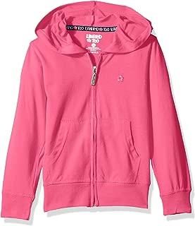 Girls' Long Sleeve Zip Front Jersey Hoodie