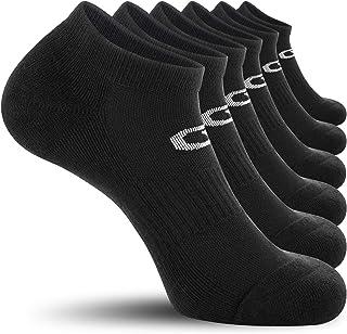 CelerSport 6 Pack Men's Ankle Socks with Cushion, Low Cut Athletic Running Socks