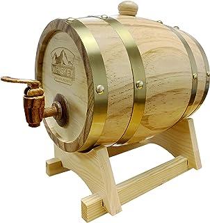 Greensen 1.5L Oak Aging Barrel Vintage Wine Barrel for Age Whiskey Beer Wine Bourbon Tequila