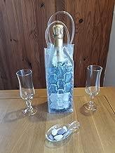 Biowine and Co Sac glaçon Transparent PVC Isotherme Seau Glace Ice Bag Refroidisseur Bouteille vin Champagne fête