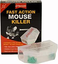 Rentokil 90102 PSF135 Fast Action Mouse Killer Twin pack, Multi-Color